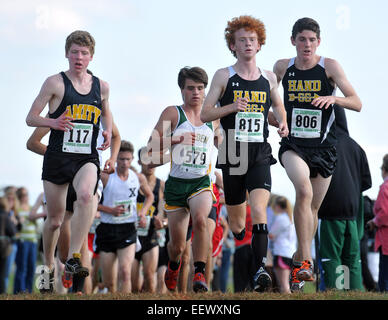 Madison, CT USA-- The Varsity SCC High School Cross Country Championships. - Stock Image