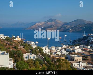 Platanos, Leros island, Greece - Stock Image