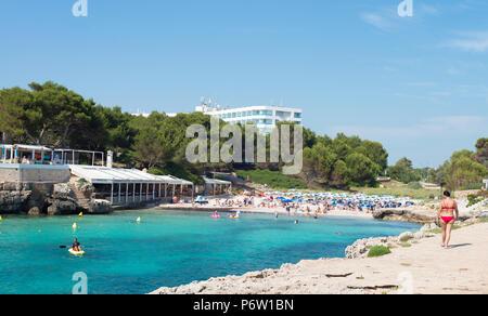 The beach at Cala Blanca, Menorca, Balearic Islands - Stock Image