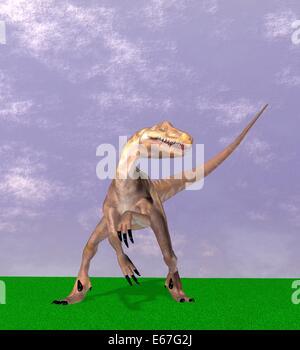 Dinosaurier Deinonychus / dinosaur Deinonychus - Stock Image