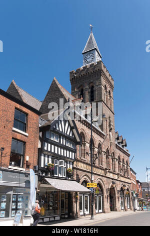 The Victorian Town Hall building in Congleton, Cheshire, England, UK - Stock Image
