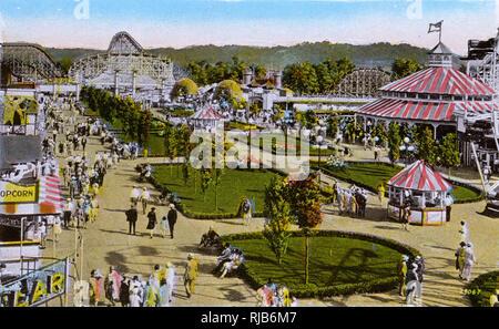 Cincinnati, Ohio, USA - The Mall, Coney Island Amusement Park - Stock Image