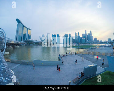 Marina Bay Sands skyline - Stock Image