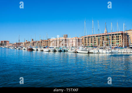 Old Port in Marseille. Marseille is the second largest city of France. - Stock Image
