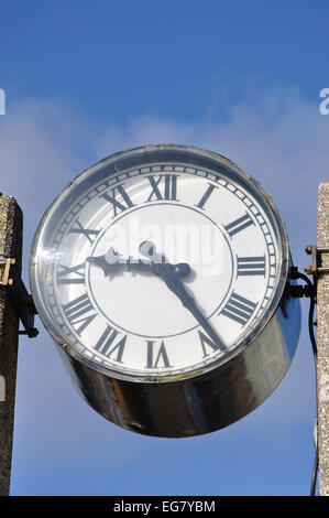 harbour clock, Ilfracombe, North Devon, England, UK - Stock Image