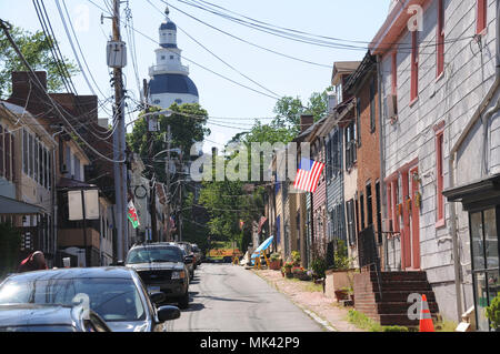 street in Annapolis, Maryland - Stock Image