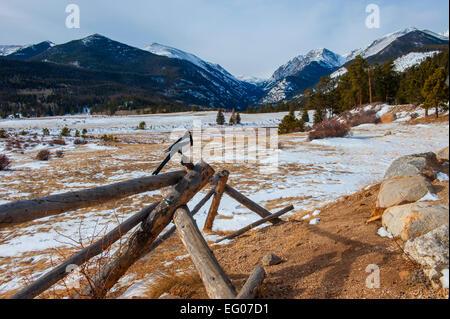 Winter Mountain Landscape - Stock Image