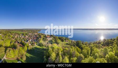 Bernried at Lake Starnberg, Bavaria, Germany - Stock Image