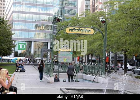 Victoria Square, Montreal, Quebec, Canada - Stock Image