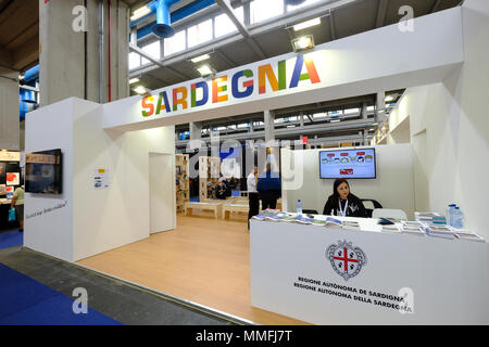 Turin, Piedmont, Italy, 10th May, 2018. International Book fair 2018,first day.Sardegna stand Credit: RENATO VALTERZA/Alamy Live News - Stock Image