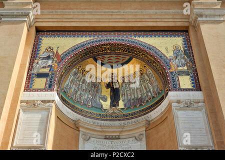 italy, rome, san giovanni in laterano, triclinium leoninum - Stock Image