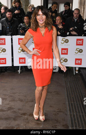 London, UK. 12th Mar, 2019. LONDON, UK. March 12, 2019: Lizzie Cundy arriving for the TRIC Awards 2019 at the Grosvenor House Hotel, London. Picture: Steve Vas/Featureflash Credit: Paul Smith/Alamy Live News - Stock Image