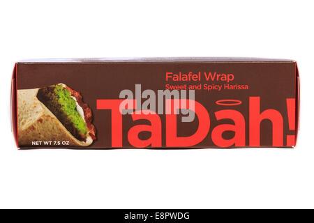 TaDah Frozen Prepared Falafel Wrap - Stock Image