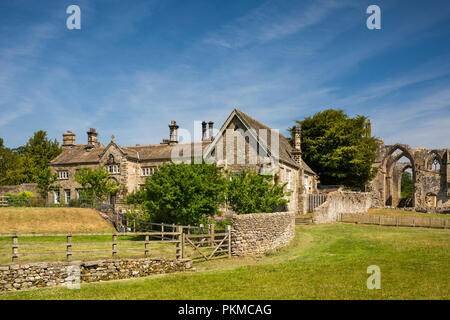 UK, Yorkshire, Wharfedale, Bolton Abbey, Church Office - Stock Image