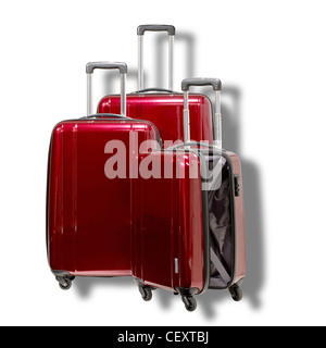 A still life shot of a set of luggage cases - Stock Image
