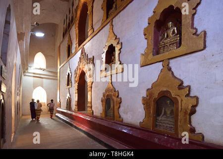 Ananda temple, Old Bagan village area, Mandalay region, Myanmar, Asia - Stock Image