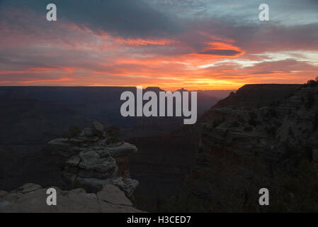 Sunset over the Grand Canyon, Arizona, USA - Stock Image