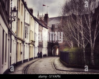Prince Street, old town, Kingston-upon-Hull, England, UK - Stock Image