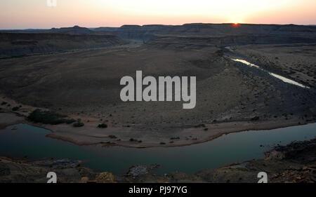 large view on orange river canyon Namibia - Stock Image