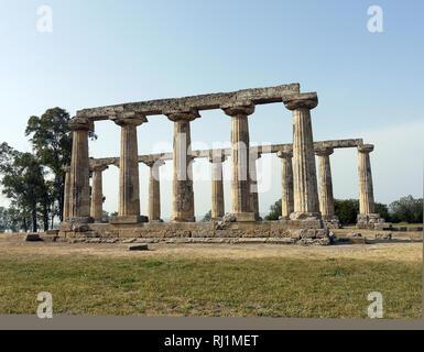 Santuary of Hera, Tavola Palatine, Benalda, Metaponto in Southern Italy - Stock Image