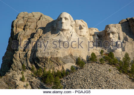 Mount Rushmore National Memorial, South Dakota - Stock Image