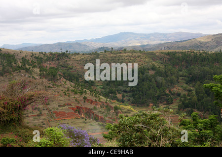 A View from the Queen's Palace, Antananarivo, Madagascar. - Stock Image