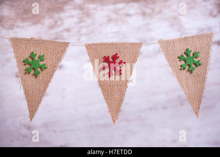 Christmas background with Christmas ornaments - Stock Image
