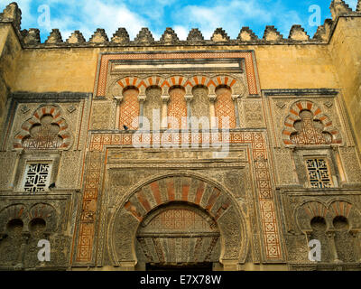 Mosque wall of the Mezquita in Cordoba - Stock Image