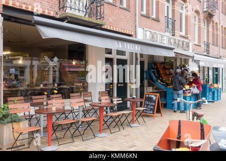 Exterior of La Fucina, Italian restaurant at Javastraat, Amsterdam, the Netherlands - Stock Image