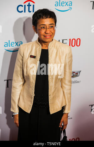 Maria Ressa attends TIME 100 GALA on April 23 in New York City - Stock Image