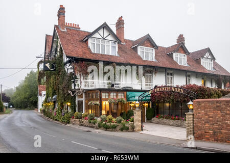 The French Horn, restaurant and hotel, Sonning on Thames, Berkshire, England, GB, UK - Stock Image