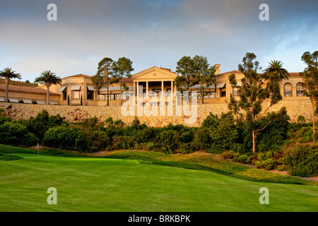 View from golf course of Pelican Hill Resort, California - Stock Image