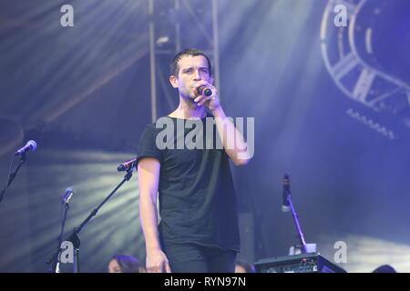 Quebec,Canada. Marvin jouno peroforms on stage at the Francos de Montreal music festival - Stock Image