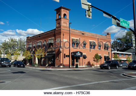 The former Central Fire Station, now business premises, in Boise, Idaho, USA. - Stock Image