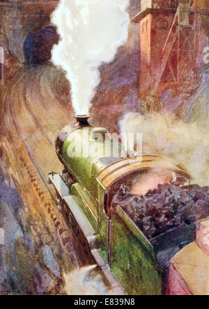 London to Sheffield Great Central Express Sir Sam Fay 4 6 0 Non stop 164 miles circa 1910 - Stock Image