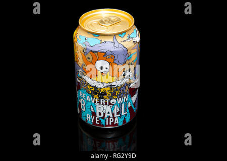Beavertown Beer 8 Ball Rye IPA Can - Stock Image