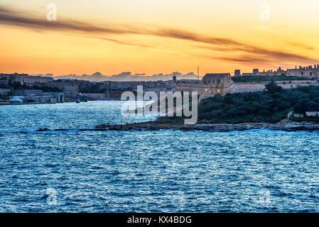 Malta: Valletta, Manoel Island and Marsans Harbour - Stock Image