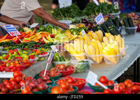 Colorful Farmers Market, Arkansas, USA - Stock Image