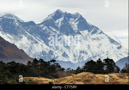 Lhotse mountain in Nepal - Stock Image