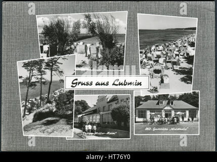 GERMANY - CIRCA 1966: A postcard printed in Germany, shows the Lubmin is a coastal resort in the German state of - Stock Image