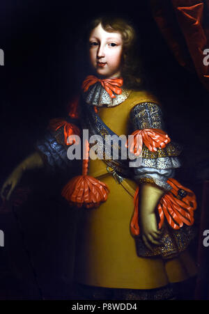 Louis of France , also called the Great Dolphin ( 1661 - 1711 ), was the firstborn and therefore the heir of King Louis XIV of France and Queen Maria Theresa . by French unknown painter 16th Century France - Stock Image