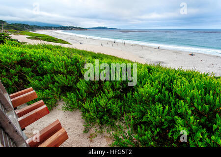 beach of Carmel by the sea Monterey Peninsula - Stock Image