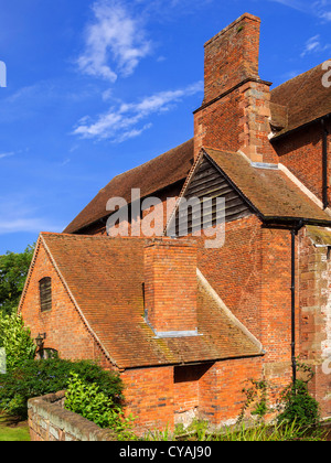a stately home - Harvington hall Worcestershire The Midlands England UK - Stock Image