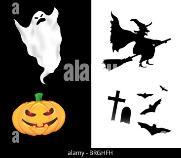Halloween Design Elements - Stock Image