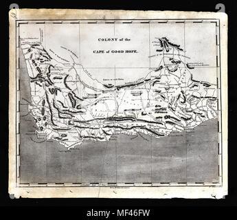 1804 Arrowsmith Map - South Africa - Cape of Good Hope Capetown Kalahari Desert - Stock Image