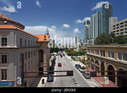 NE 1st Avenue, Miami - Stock Image