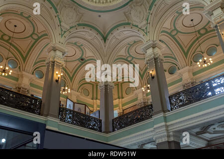 RIO DE JANEIRO, RJ , BRAZIL - December 27, 2018:  View of  the ceiling of the National Library at Avenida Rio Branco. This is one of the biggest natio - Stock Image