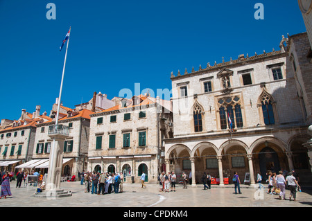 Luza square Grad the old town Dubrovnik city Dalmatia Croatia Europe - Stock Image