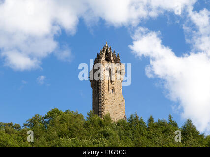 The National Wallace Monument on Abbey Craig, Stirling in Scotland - Stock Image