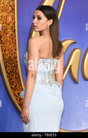 London, UK. 09th May, 2019. LONDON, UK. May 09, 2019: Naomi Scott at the 'Aladdin' premiere at the Odeon Luxe, Leicester Square, London. Picture: Steve Vas/Featureflash Credit: Paul Smith/Alamy Live News - Stock Image